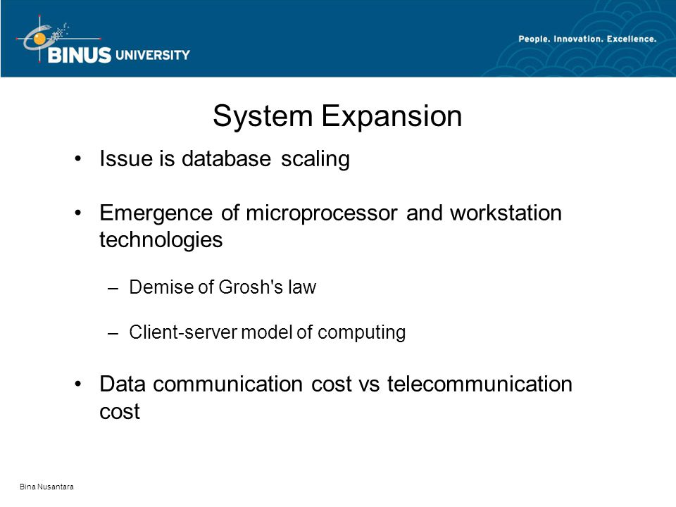 System Expansion Issue is database scaling