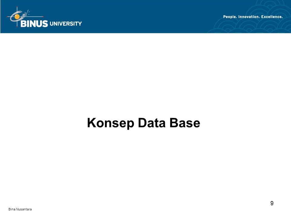 Konsep Data Base 9 Bina Nusantara