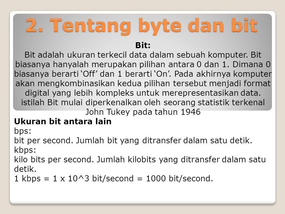2. Tentang byte dan bit