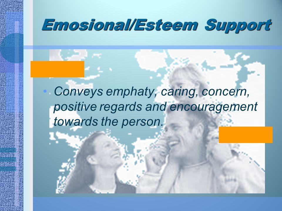 Emosional/Esteem Support