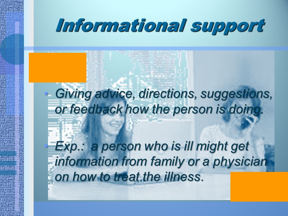 Informational support