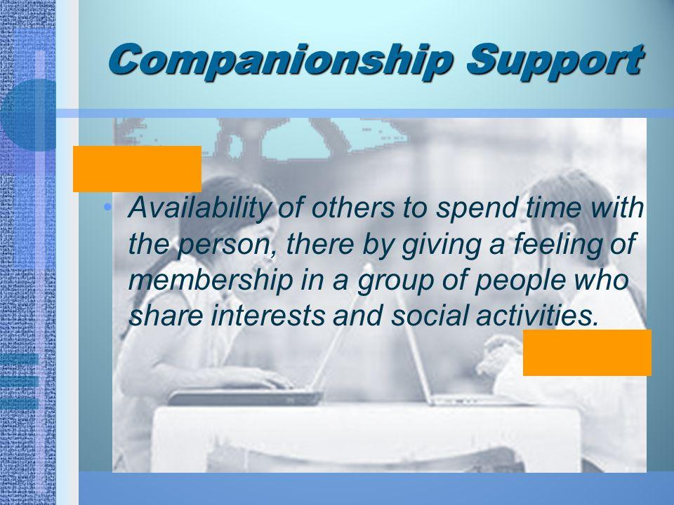 Companionship Support