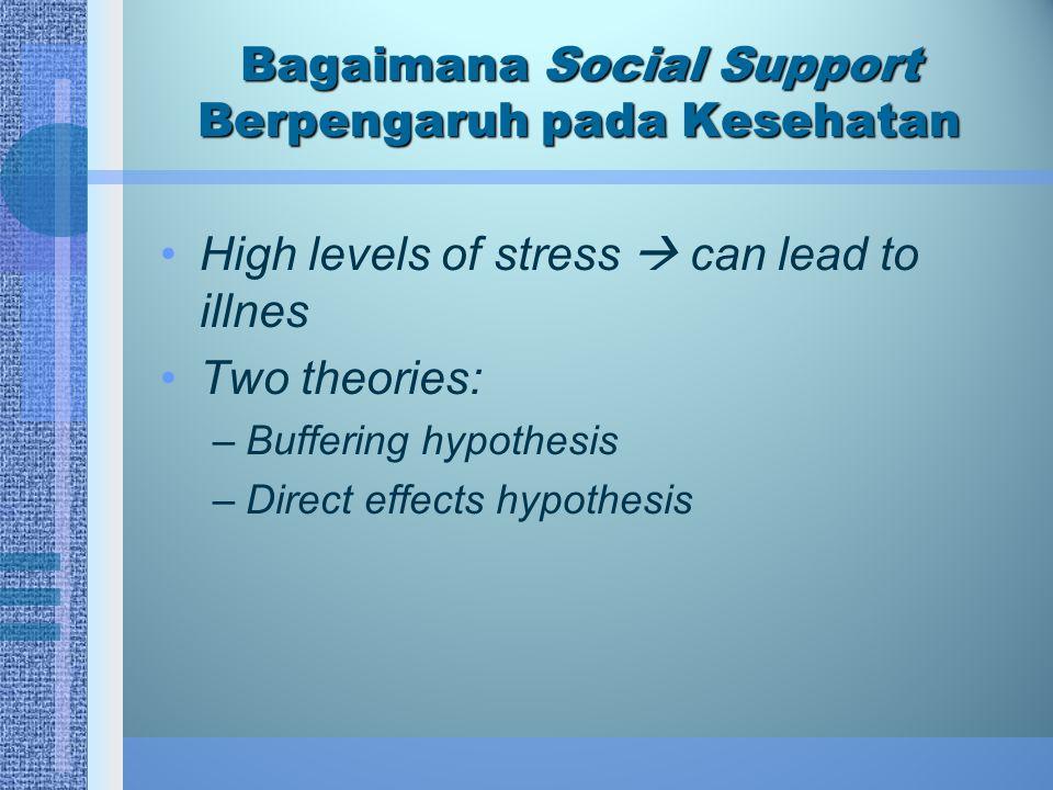 Bagaimana Social Support Berpengaruh pada Kesehatan