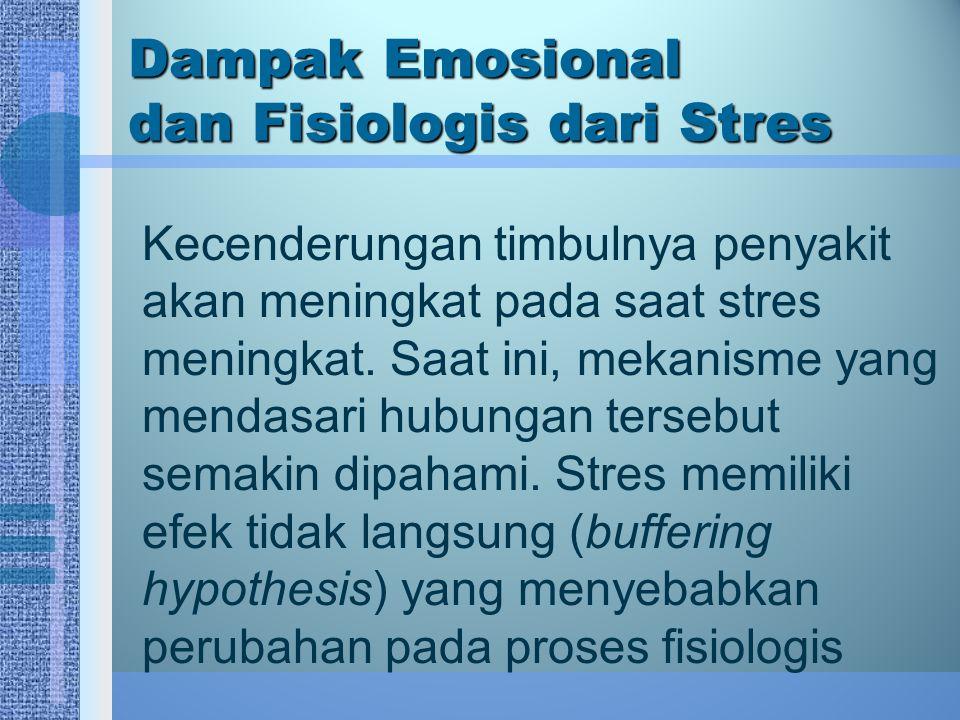 Dampak Emosional dan Fisiologis dari Stres