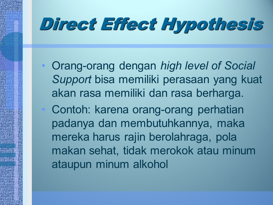 Direct Effect Hypothesis