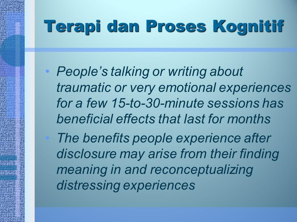 Terapi dan Proses Kognitif
