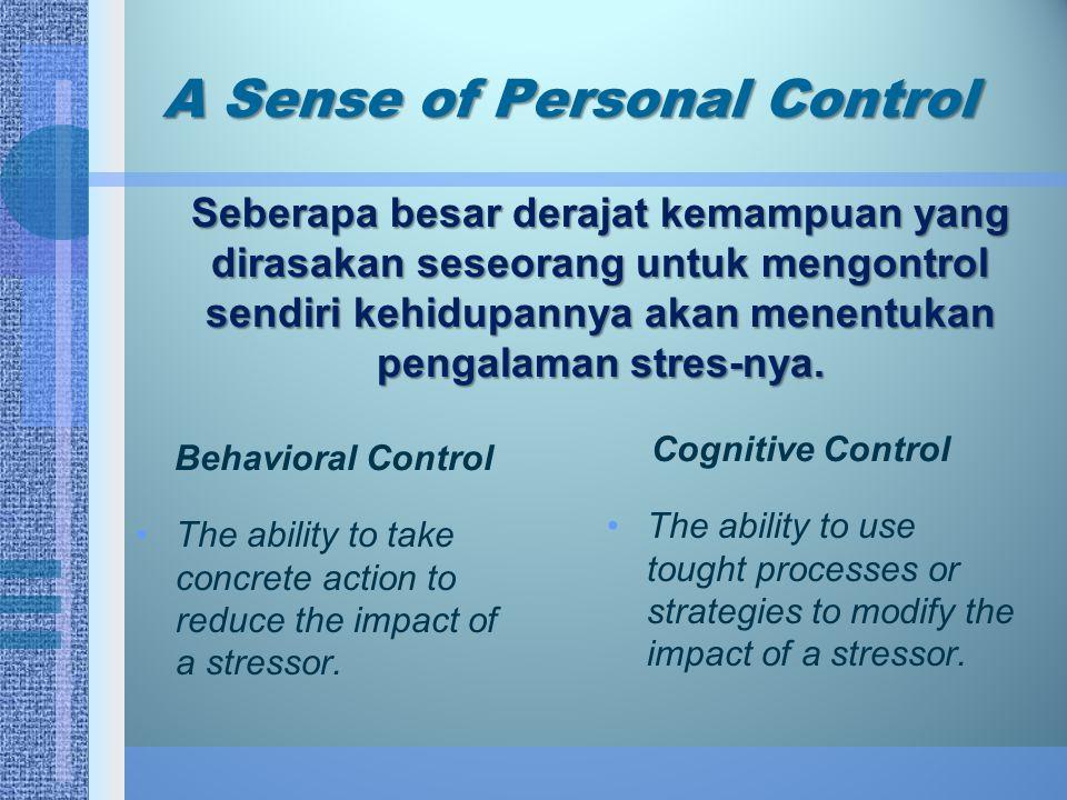 A Sense of Personal Control