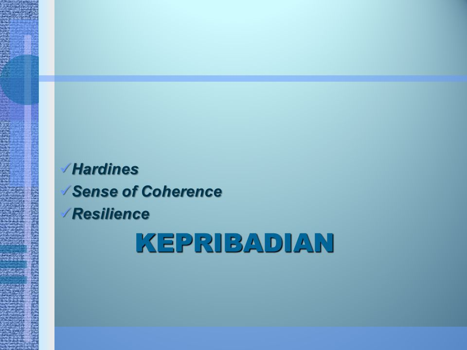 Hardines Sense of Coherence Resilience Kepribadian