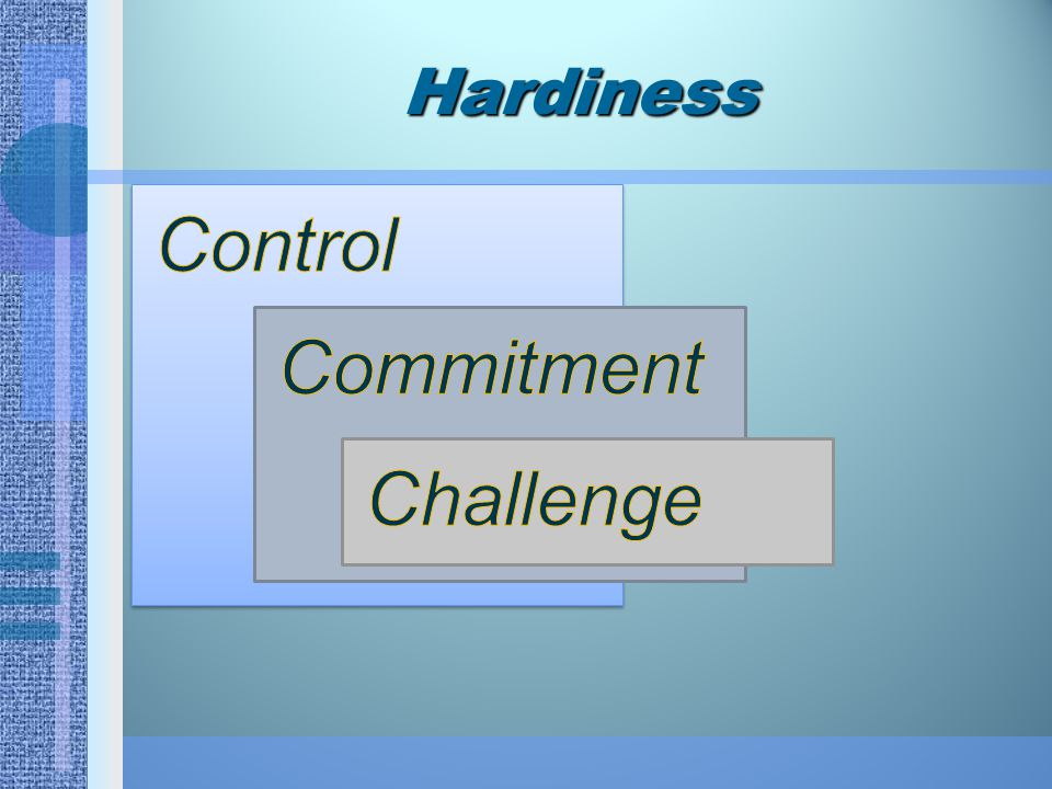 Hardiness Control Commitment Challenge