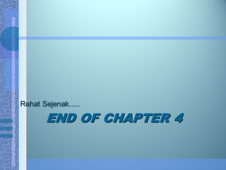 Rehat Sejenak..... End Of chapter 4