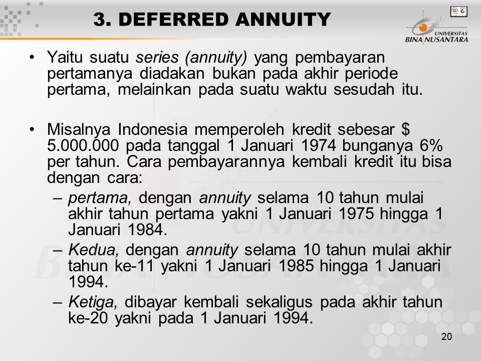 3. DEFERRED ANNUITY