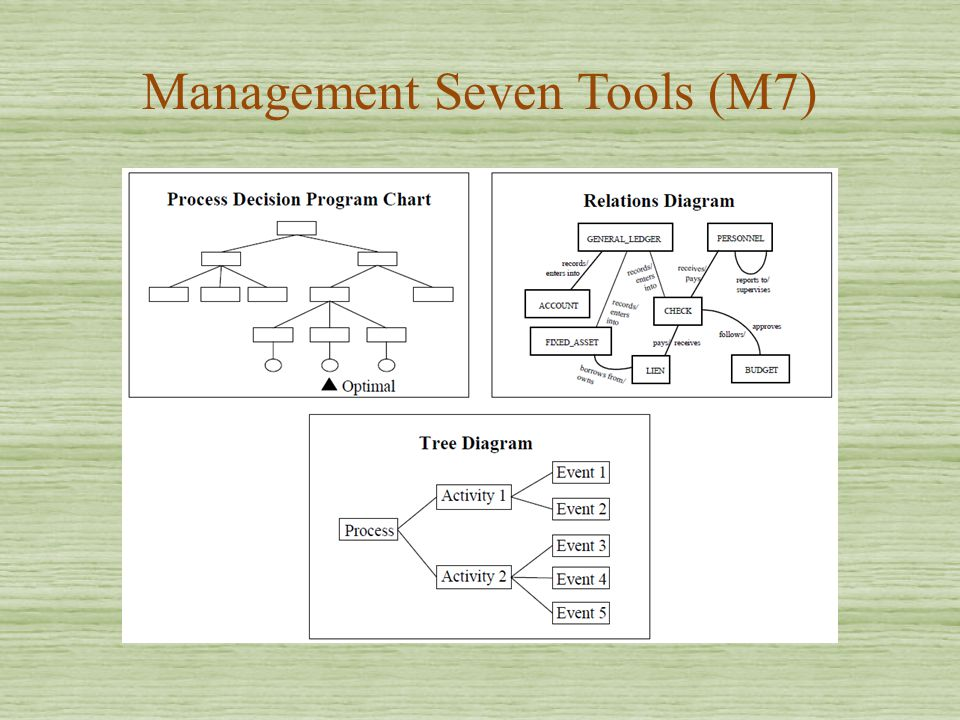 Management Seven Tools (M7)