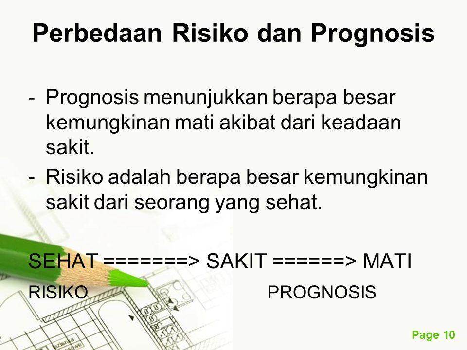 Perbedaan Risiko dan Prognosis