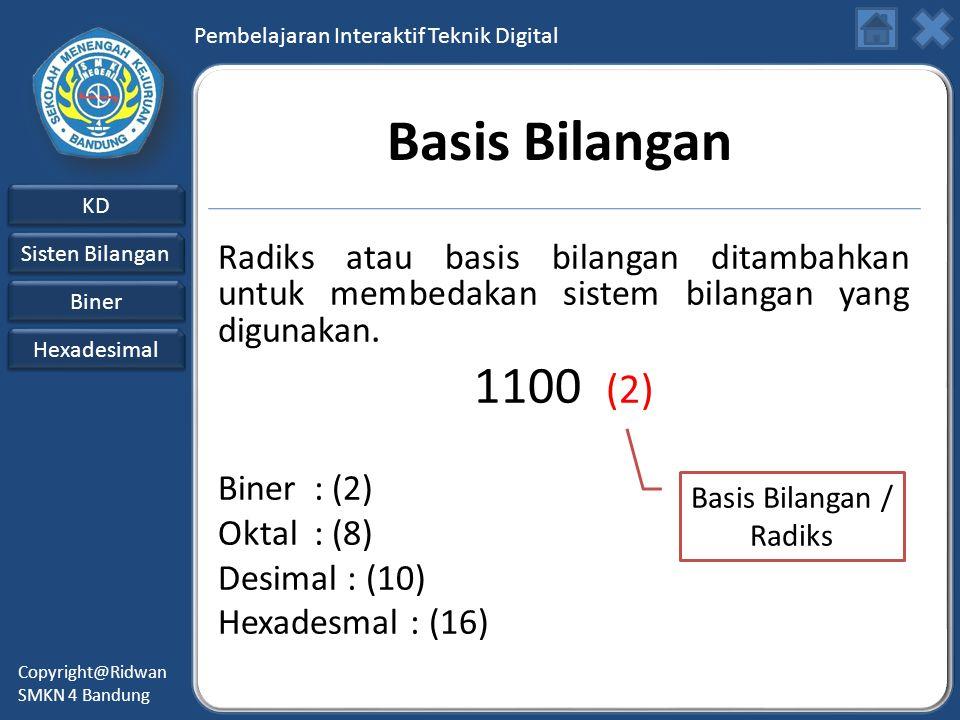 Basis Bilangan / Radiks