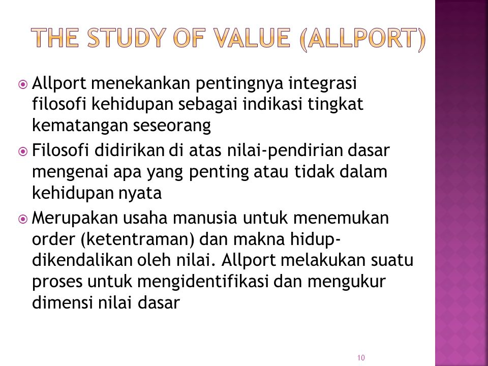The Study of Value (Allport)