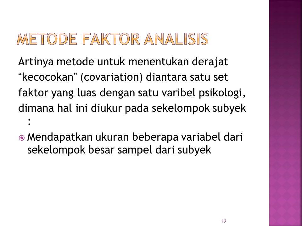 Metode faktor analisis