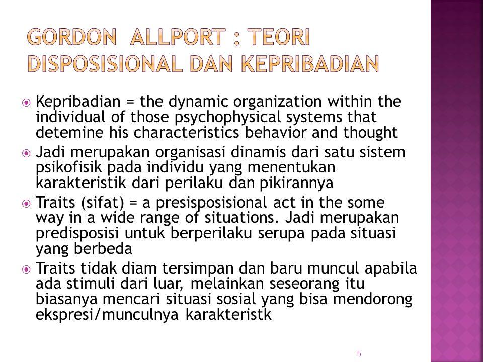 Gordon Allport : Teori Disposisional dan Kepribadian