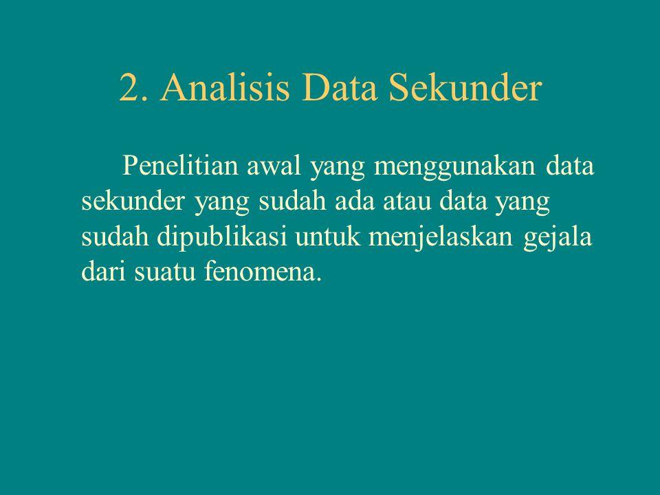 2. Analisis Data Sekunder