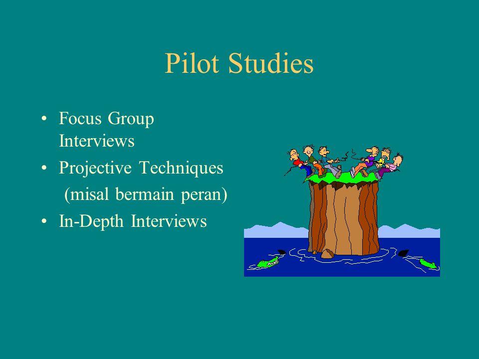 Pilot Studies Focus Group Interviews Projective Techniques