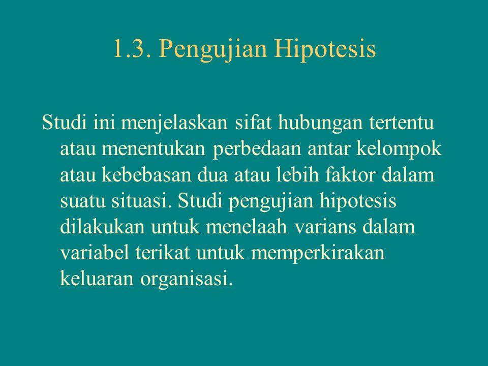 1.3. Pengujian Hipotesis