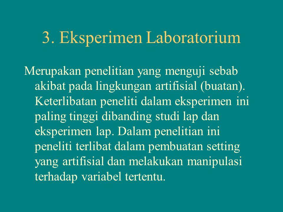 3. Eksperimen Laboratorium