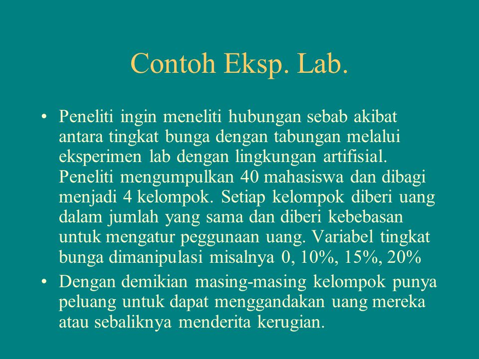 Contoh Eksp. Lab.