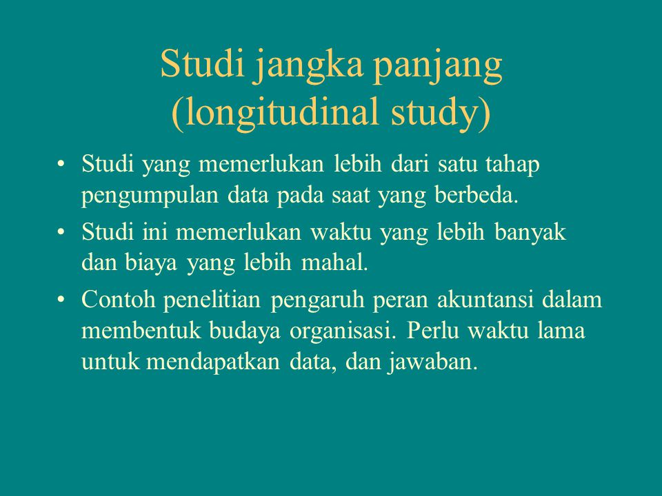 Studi jangka panjang (longitudinal study)