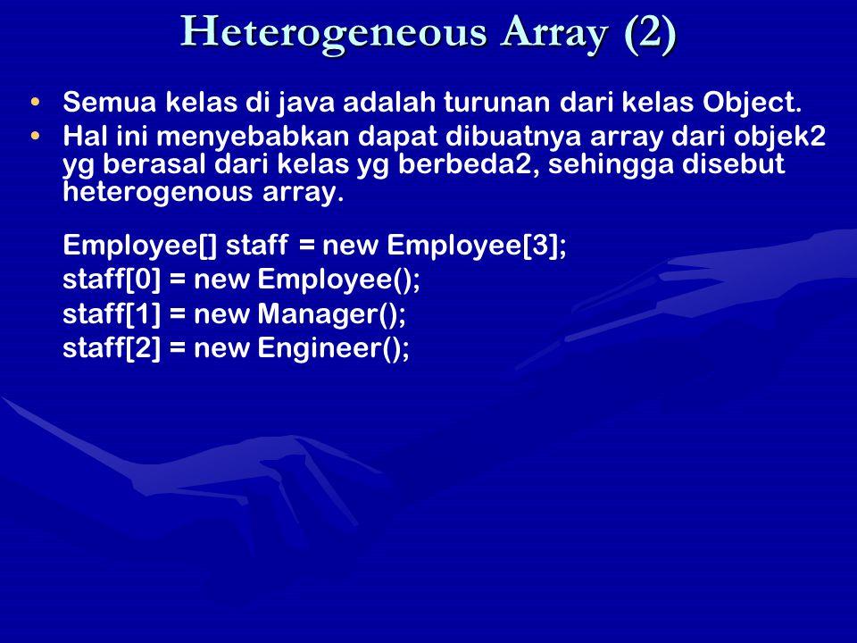 Heterogeneous Array (2)