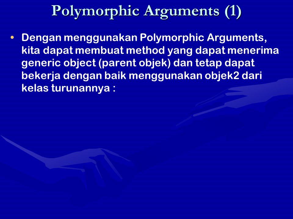 Polymorphic Arguments (1)