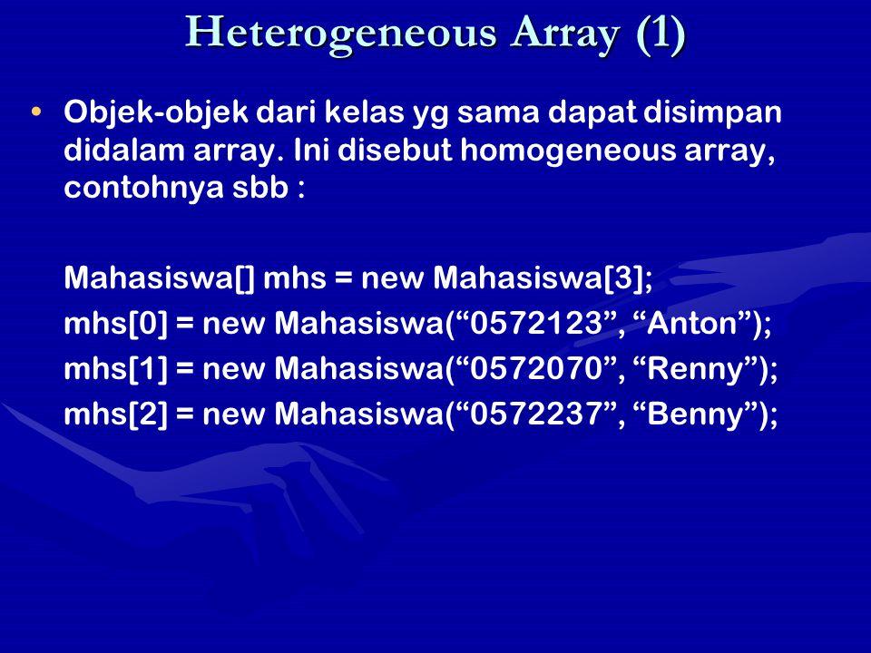 Heterogeneous Array (1)