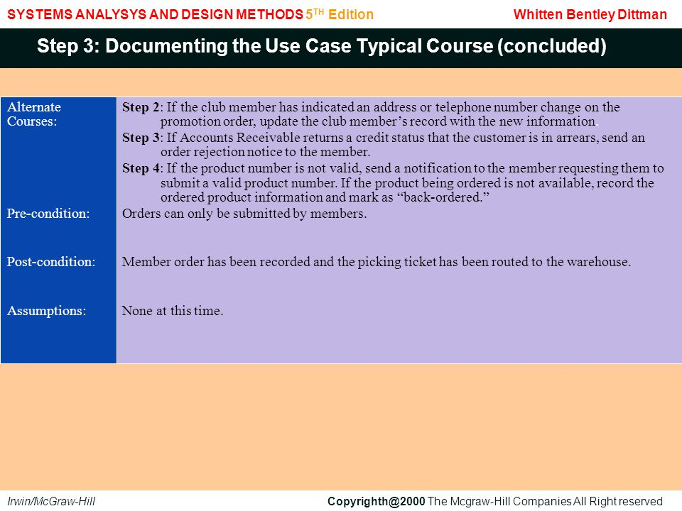 Step 3: Documenting the Use Case Typical Course (concluded)