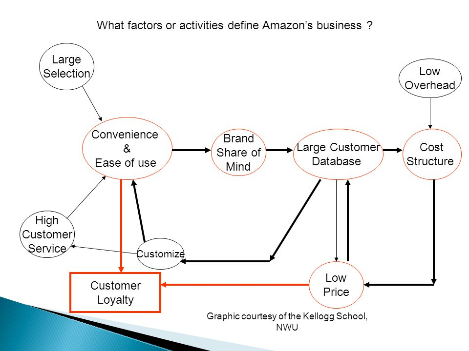 What factors or activities define Amazon's business