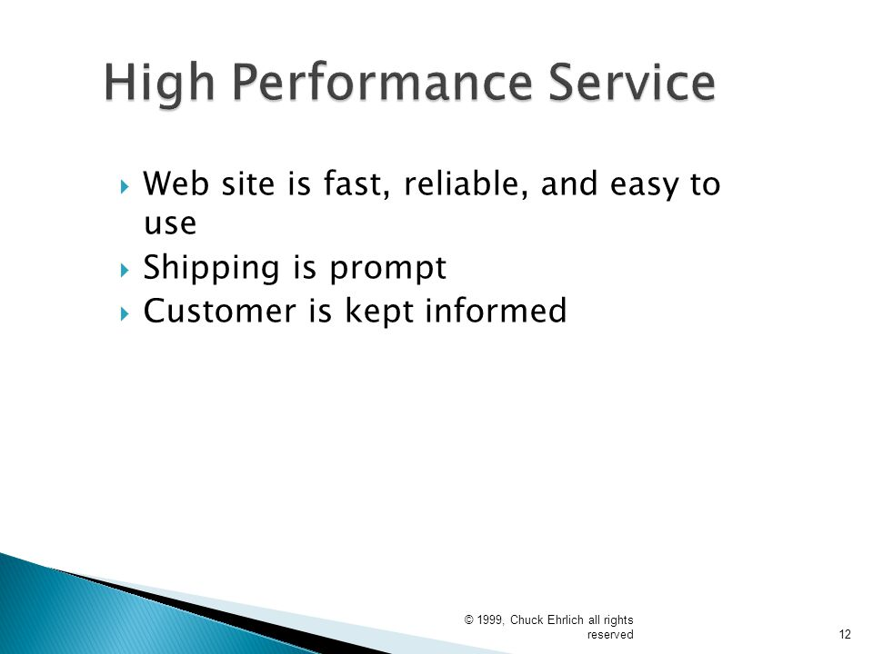 High Performance Service