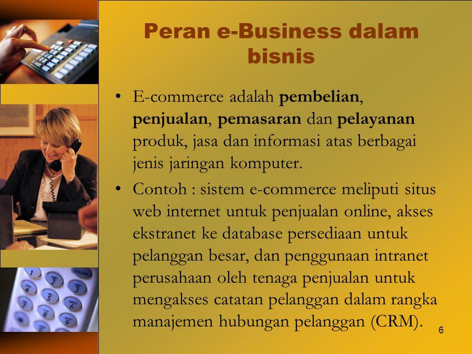 Peran e-Business dalam bisnis