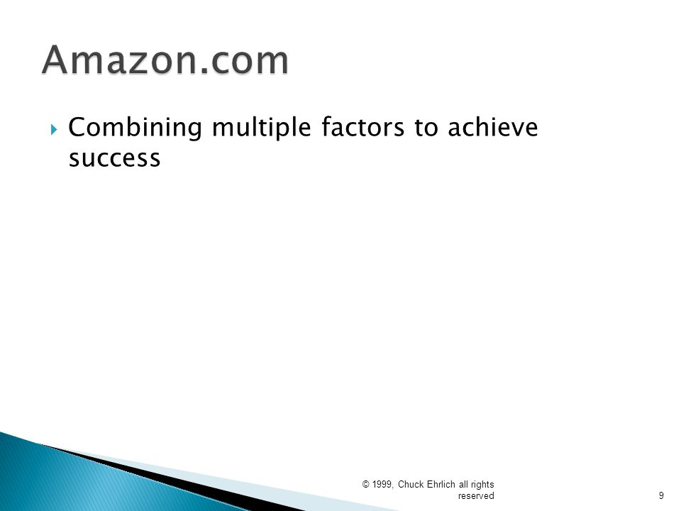 Amazon.com Combining multiple factors to achieve success
