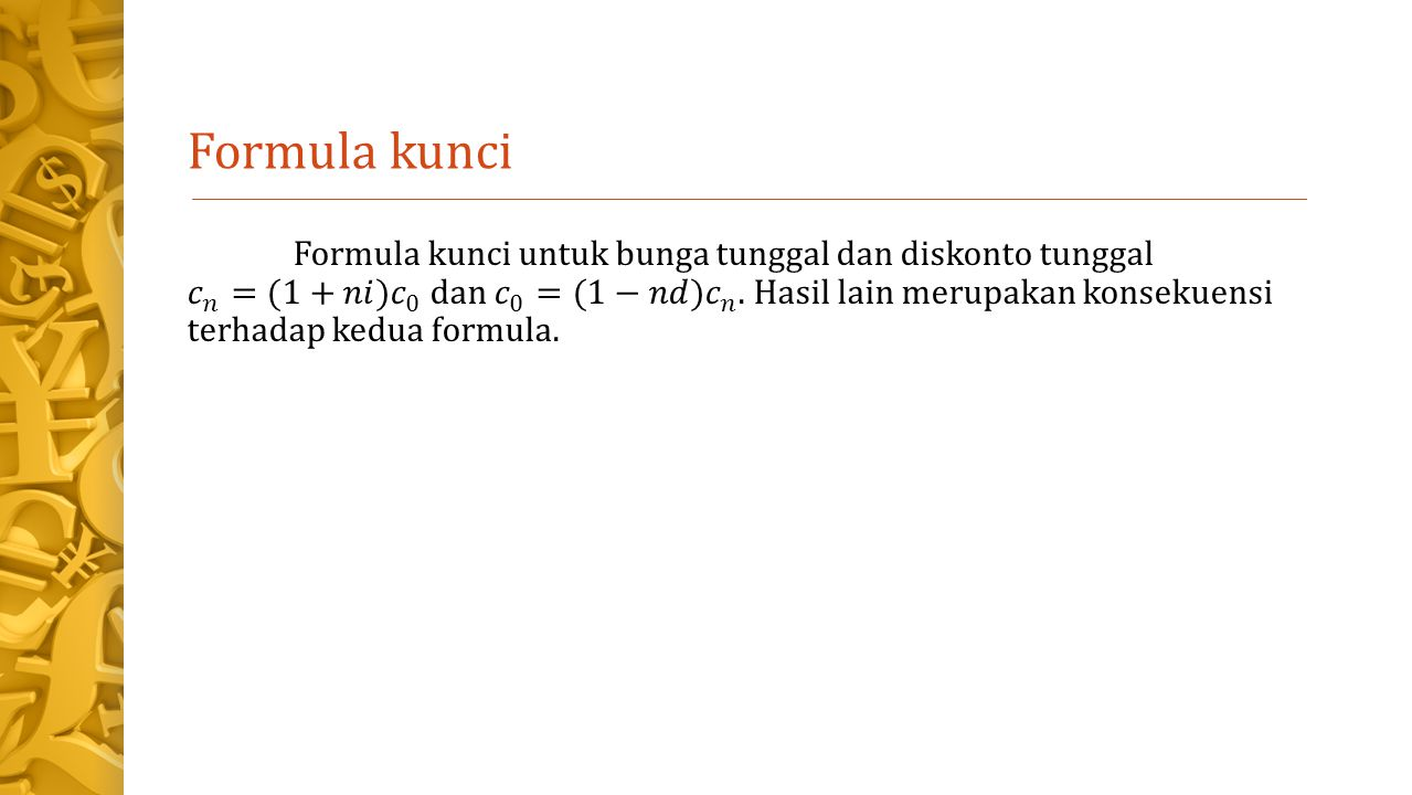 Formula kunci