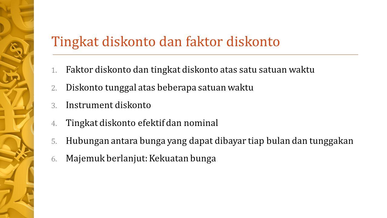 Tingkat diskonto dan faktor diskonto
