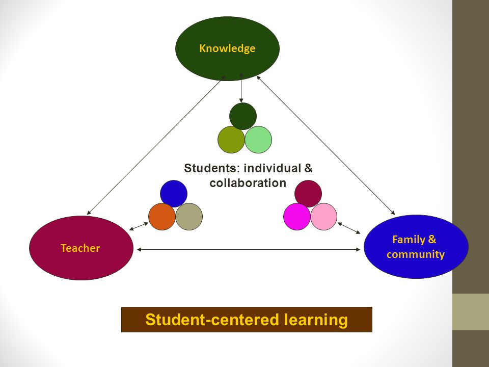 Students: individual & collaboration Student-centered learning