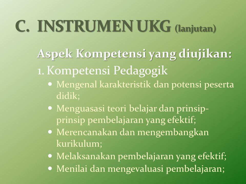 C. INSTRUMEN UKG (lanjutan)