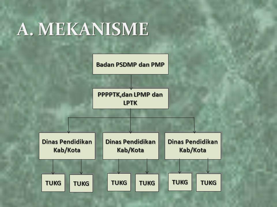 PPPPTK,dan LPMP dan LPTK Dinas Pendidikan Kab/Kota