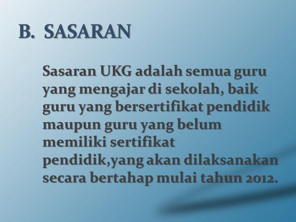 B. SASARAN