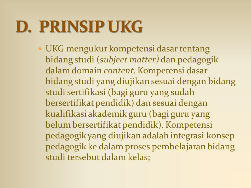 D. PRINSIP UKG