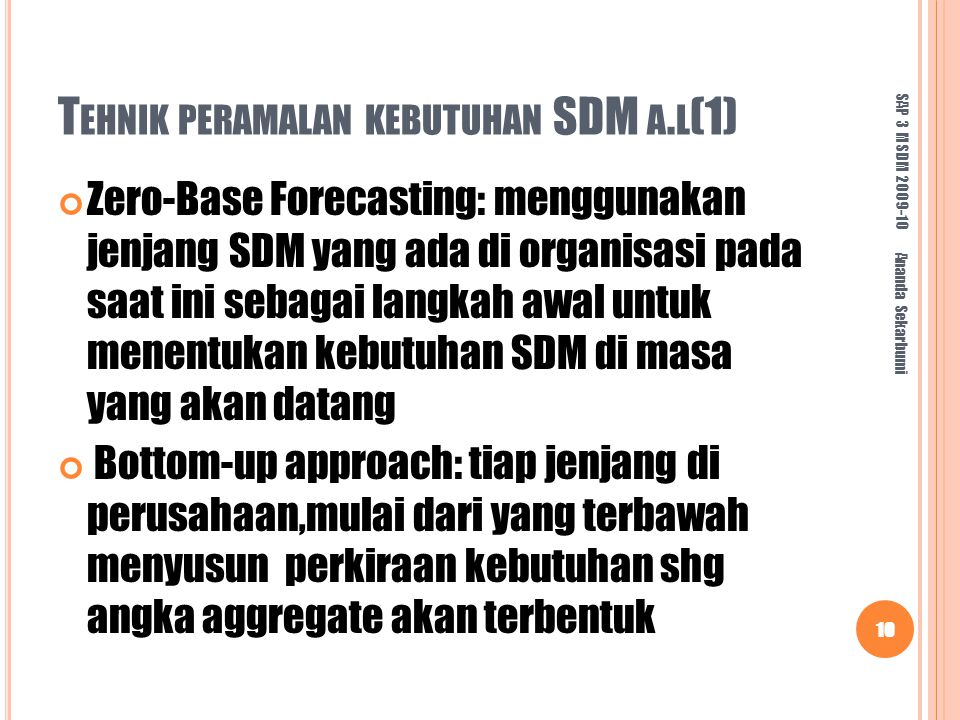 Tehnik peramalan kebutuhan SDM a.l(1)