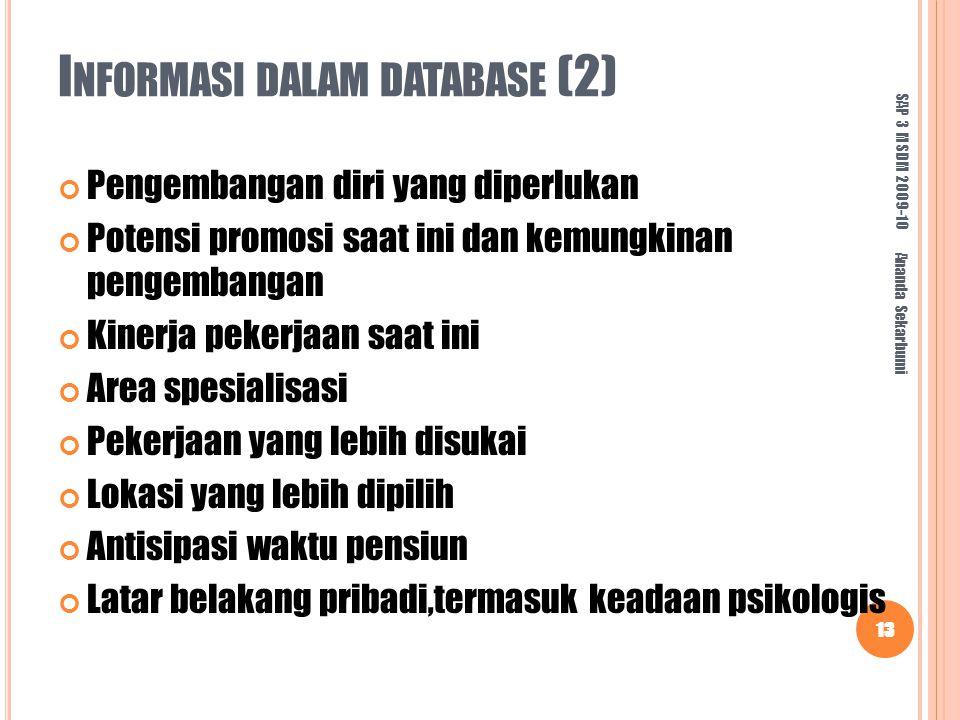 Informasi dalam database (2)