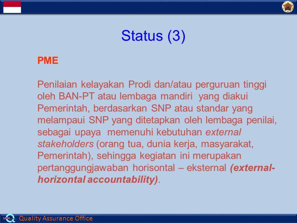 Status (3) PME.
