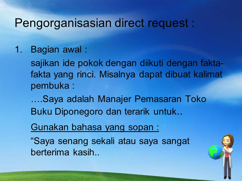 Pengorganisasian direct request :