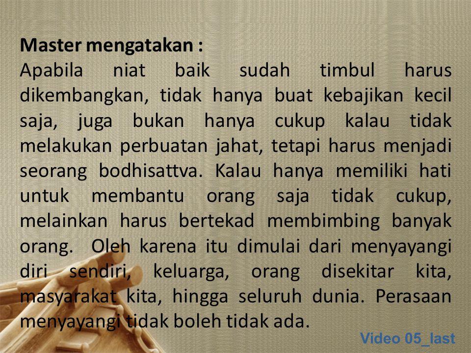 Master mengatakan :