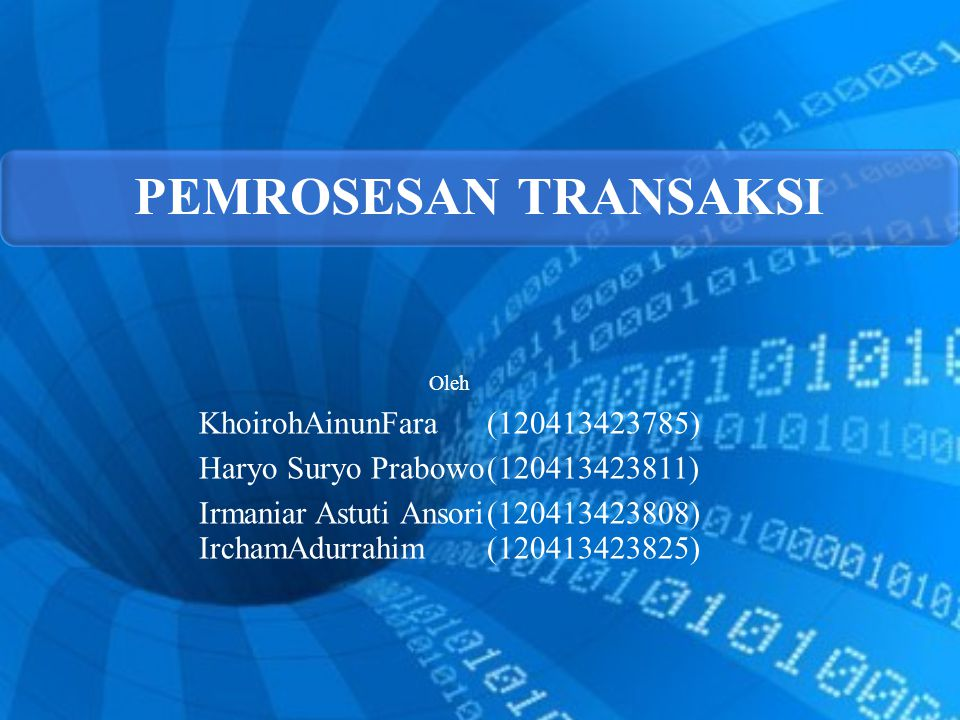 Irmaniar Astuti Ansori (120413423808) IrchamAdurrahim (120413423825)