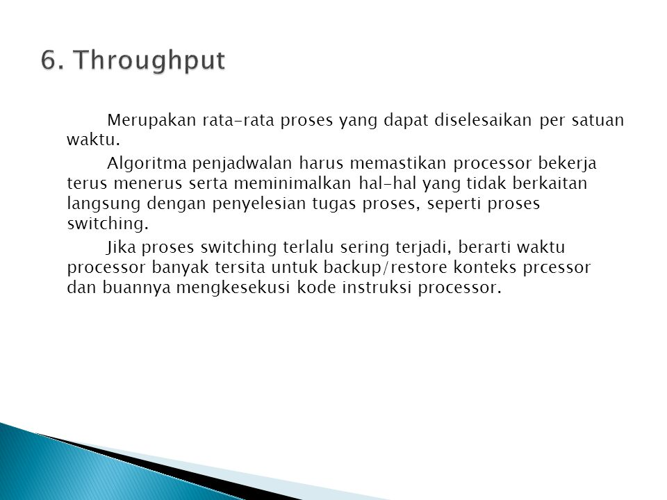 6. Throughput