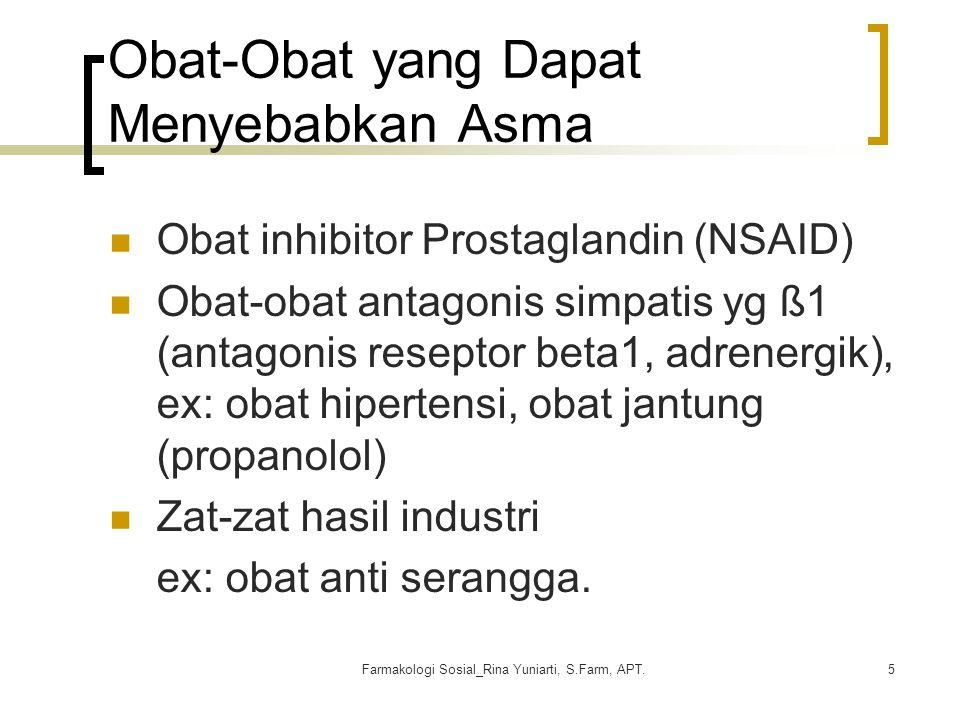 Obat-Obat yang Dapat Menyebabkan Asma